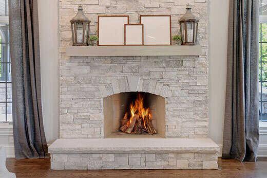 Updated modern fireplace