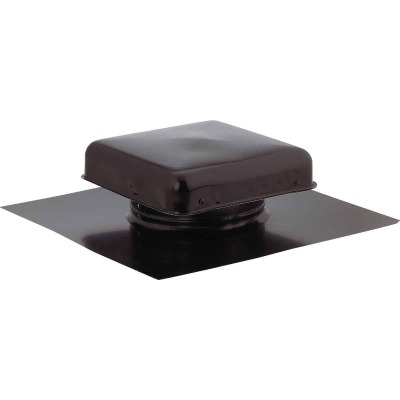 "NorWesco 7-3/4"" Galvanized Steel Black Static Roof Mount Attic Vent"