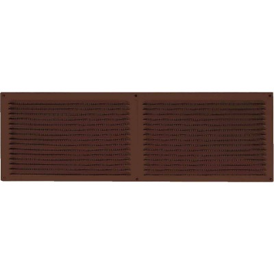 NorWesco 16 In. x 6 In. Brown Galvanized Soffit Ventilator