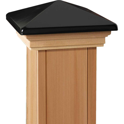 Deckorators 6 In. x 6 In. Plastic Top, Cedar Base Press-On Post Cap