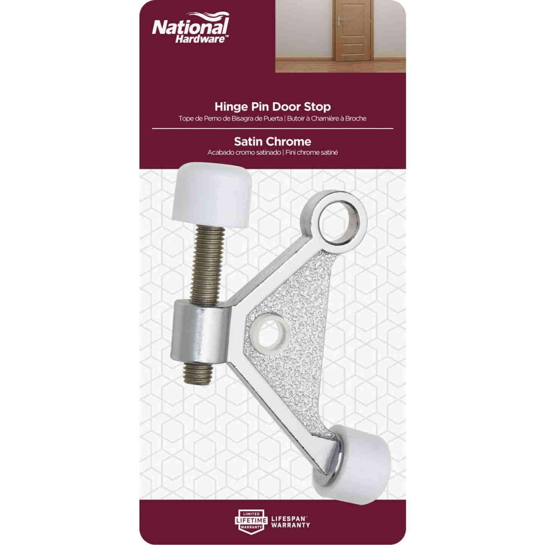 National Satin Chrome Zinc Hinge Pin Door Stop Image 2