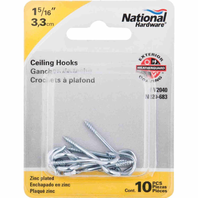 National #14 Zinc Finish Ceiling Hook (10 Pack) Image 2