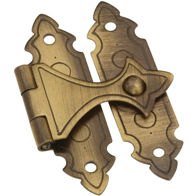National Catalog V1840 Antique Brass Decorative Catch (2-Count)