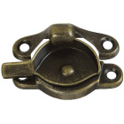 National Antique Brass 7/8 In. Crescent Sash Lock Image 1