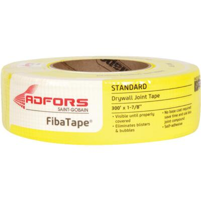 FibaTape 1-7/8 In. x 300 Ft. Yellow Self-Adhesive Joint Drywall Tape