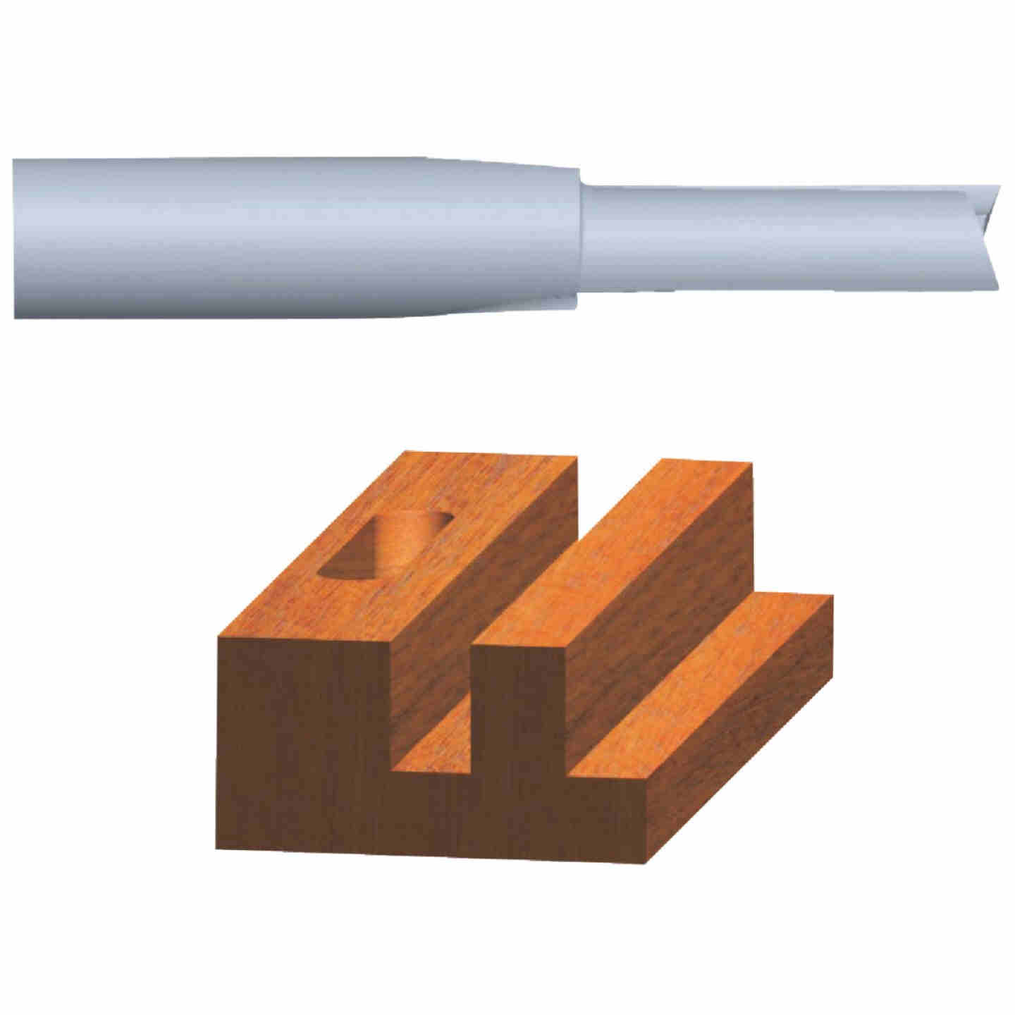 Vermont American Carbide Tip 1/8 In. Straight Bit Image 1
