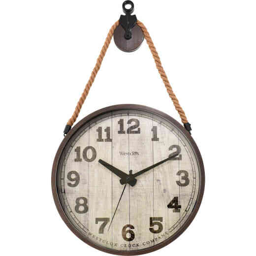 Westclox 14 In. Hanging Pulley Wall Clock