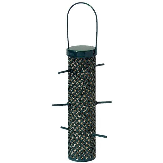 C&S Nugget Green Wire Tube Bird Feeder