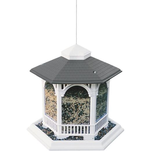 Cherry Valley White Plastic Gazebo Bird Feeder