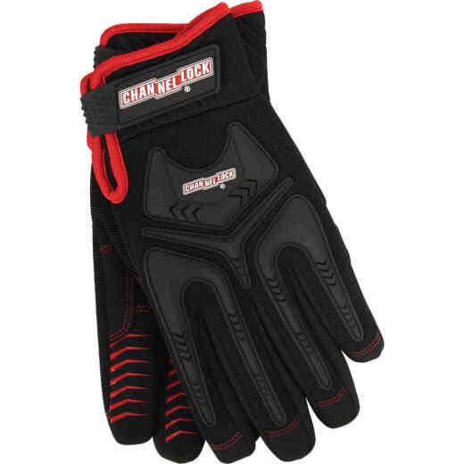 Channellock Men's Medium Synthetic Leather Heavy-Duty Mechanics Glove, Black