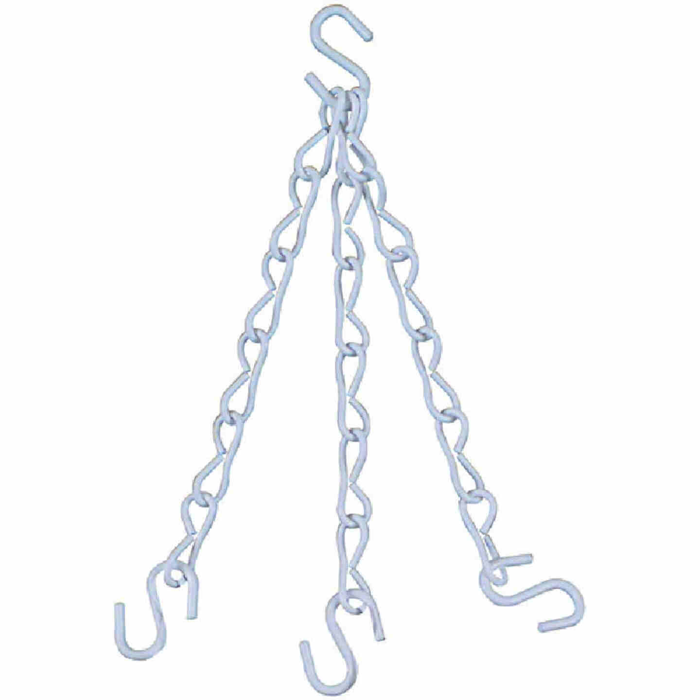 National V2663 18 In. White Metal Hanging Plant Extension Chain Image 1