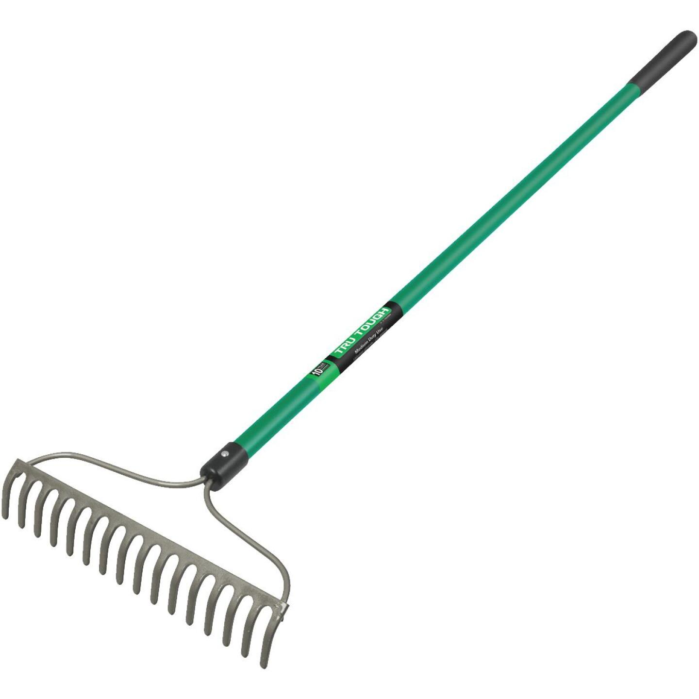 Tru Tough 15.5 In. Steel Bow Garden Rake (16-Tine) Image 1