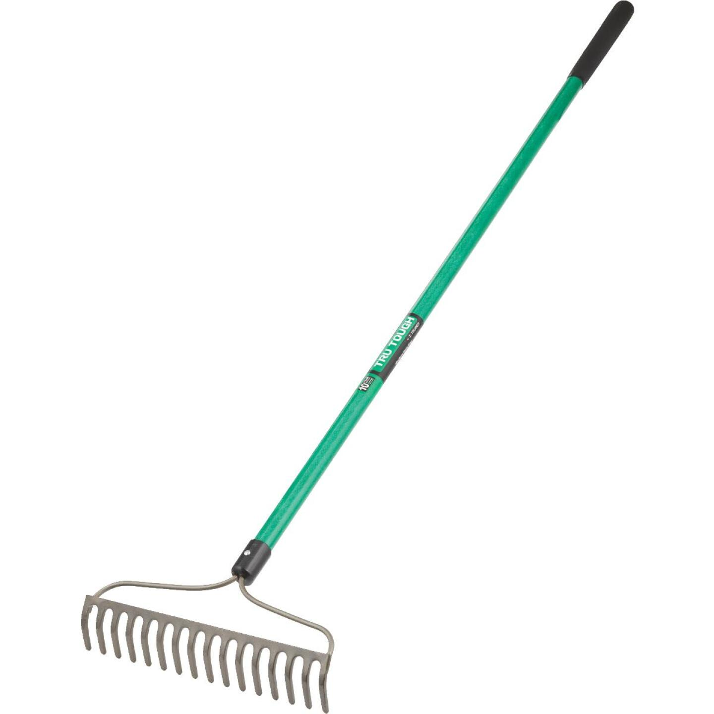 Tru Tough 15.5 In. Steel Bow Garden Rake (16-Tine) Image 2