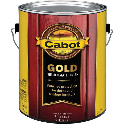 Cabot Gold Exterior Stain, Fireside Cherry, 1 Gal.